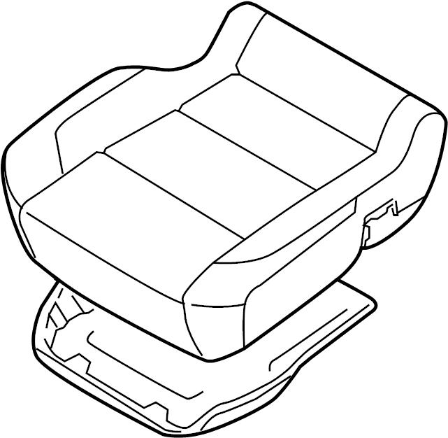 Nissan Titan Seat Cushion Foam (Front). Other