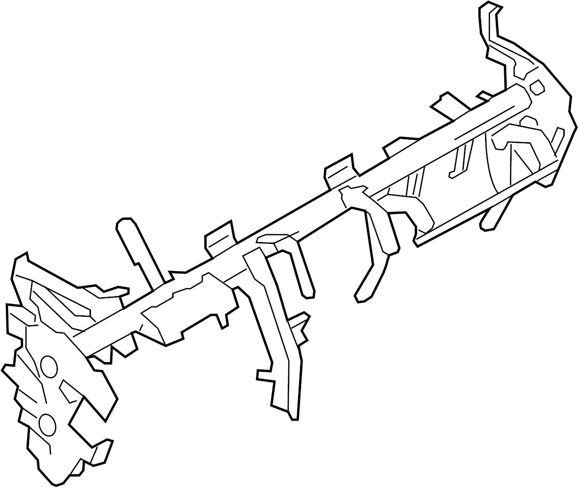 Nissan Leaf Instrument Panel Crossmember. CLUSTER, PAD
