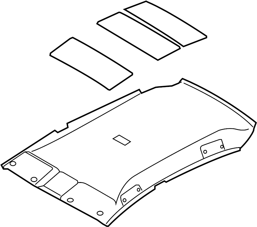 Nissan Versa Headliner. ROOF - 739B0-ZN95B