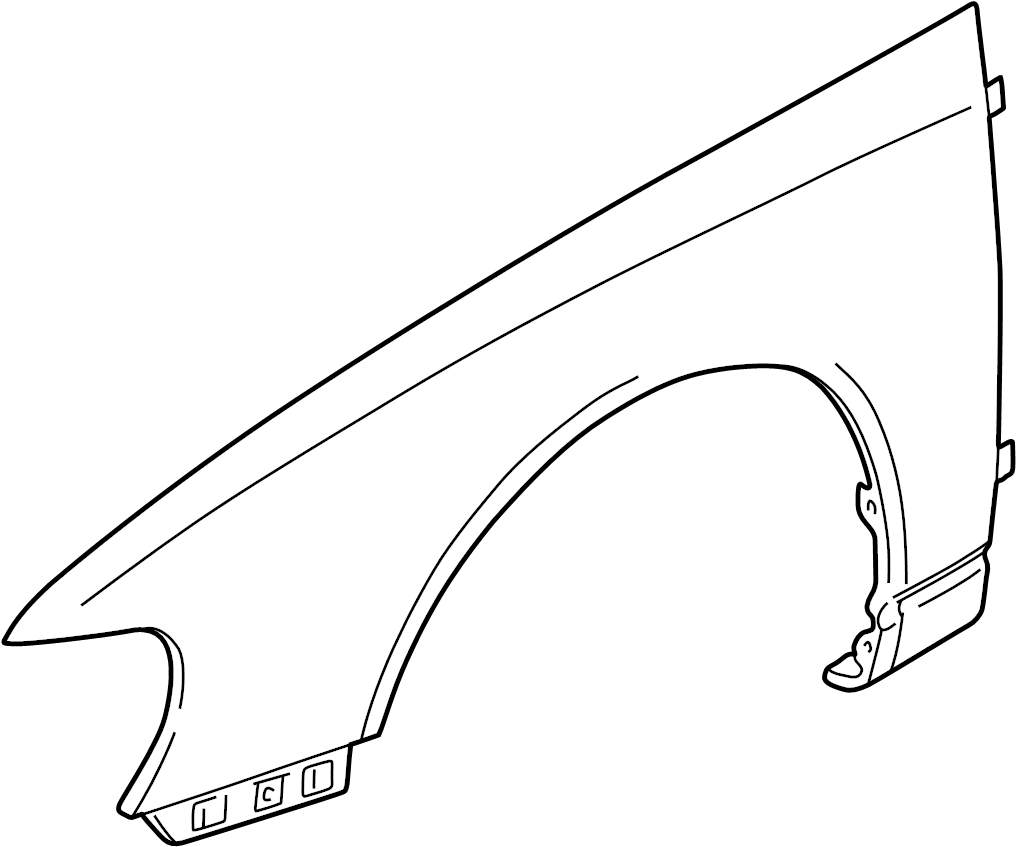 Nissan Altima Fender (Left, Front). FITTING, Trim
