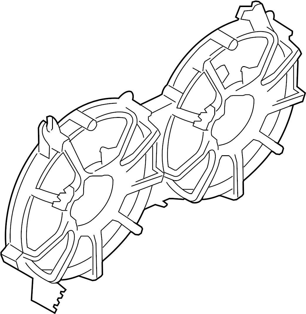 Nissan Pulsar NX Shroud Motor Fan - 21483-55A06