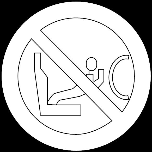 Nissan Pulsar NX Label Caution, Air Bag. CAL, FED, DASH