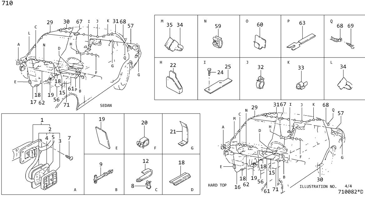 Nissan Stanza Cable Battery      Clamp Hose  B  Clip