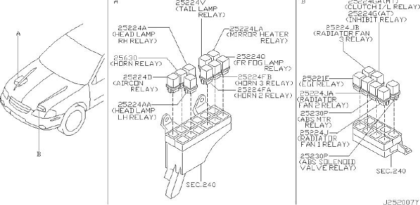 Nissan 300zx Relay Egi  Relay Ignition  Jideco  Rly  Acon
