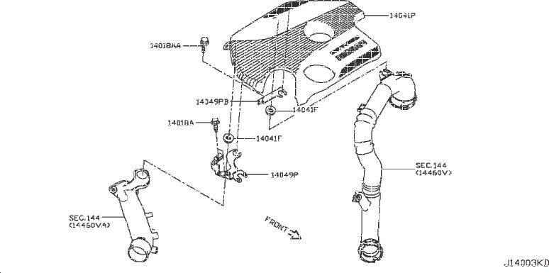Nissan Sentra Yoke Manifold. ENGINE, INTAKE, EXHAUST ...