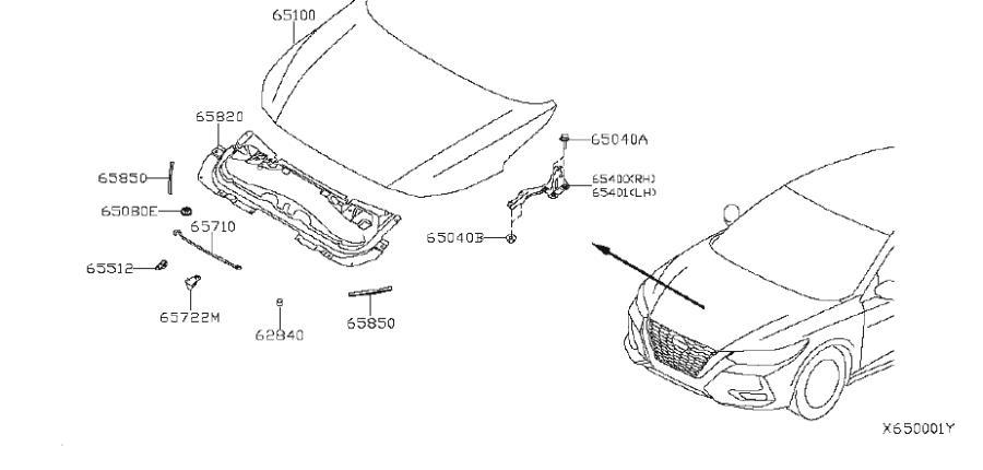 Nissan Sentra Hood Prop Rod Retainer  Hinge  Fitting