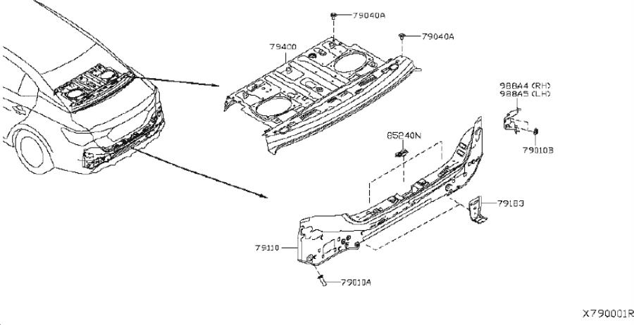 Nissan Sentra Bolt  Fitting  Panel  Body