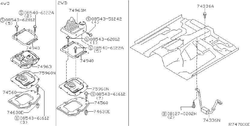 Nissan Frontier Manual Transmission Shift Linkage Boot