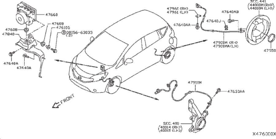 2011 Nissan Versa Abs Sensor Wiring Diagram