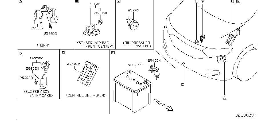 Nissan Quest Engine Oil Pressure Sensor