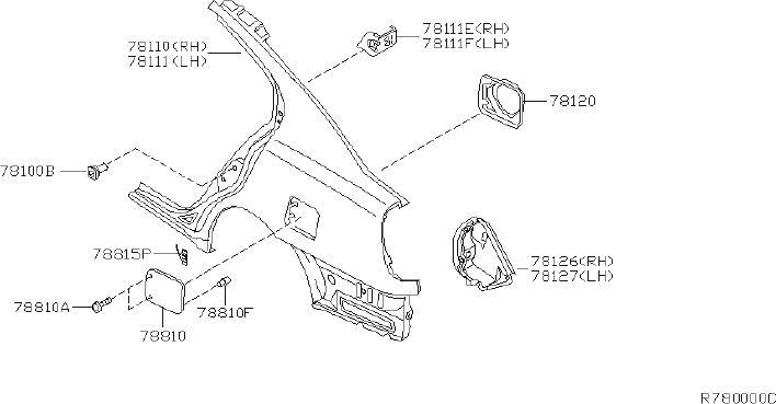 Nissan Altima Quarter Panel  Right  Rear   Fitting  Fender