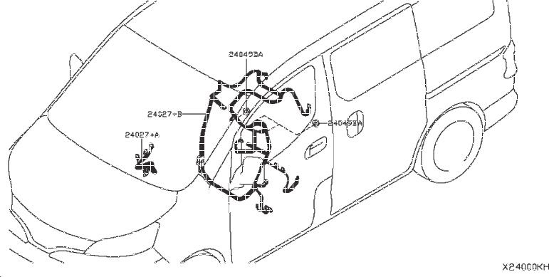 Nissan Nv200 Taxi Bracket Engine Room Harness  Body  Doors  Battery