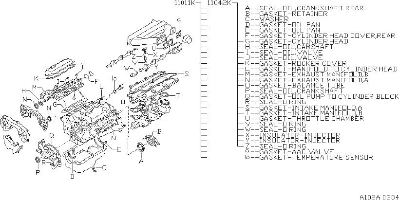 Nissan Pathfinder Engine Gasket Set  Kit