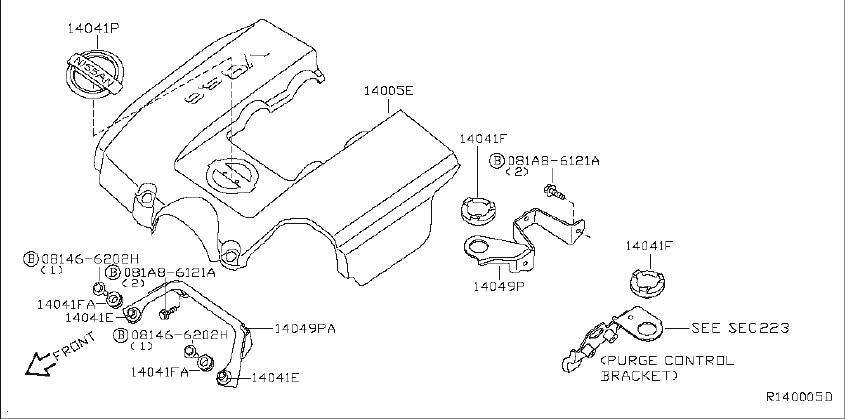 Nissan Pathfinder Engine Intake Manifold Gasket  Exhaust