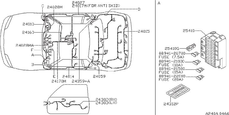 Nissan 200sx Clip Hose  Fitting  Engine  Room