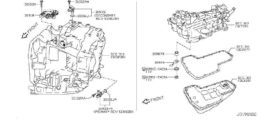 Nissan Cube Seal O Ring  Cvt  Control  Awd