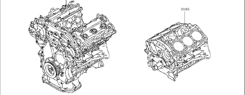nissan 350z engine short block  bare