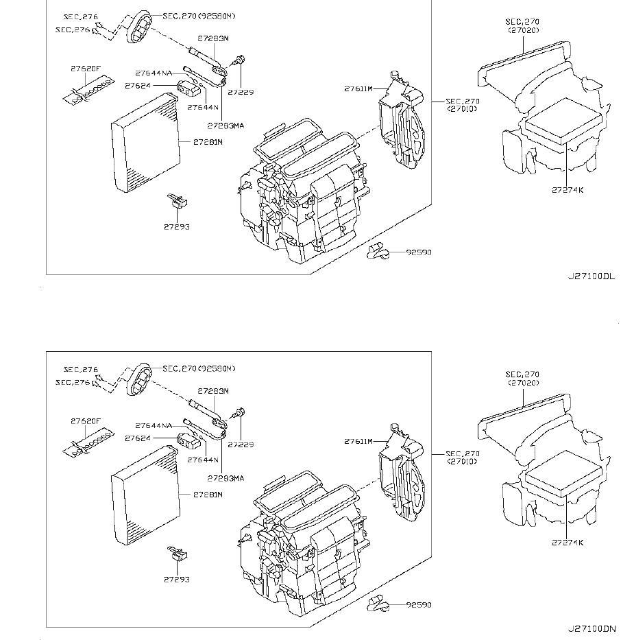 Nissan Murano Insulator - 27288-CB61B