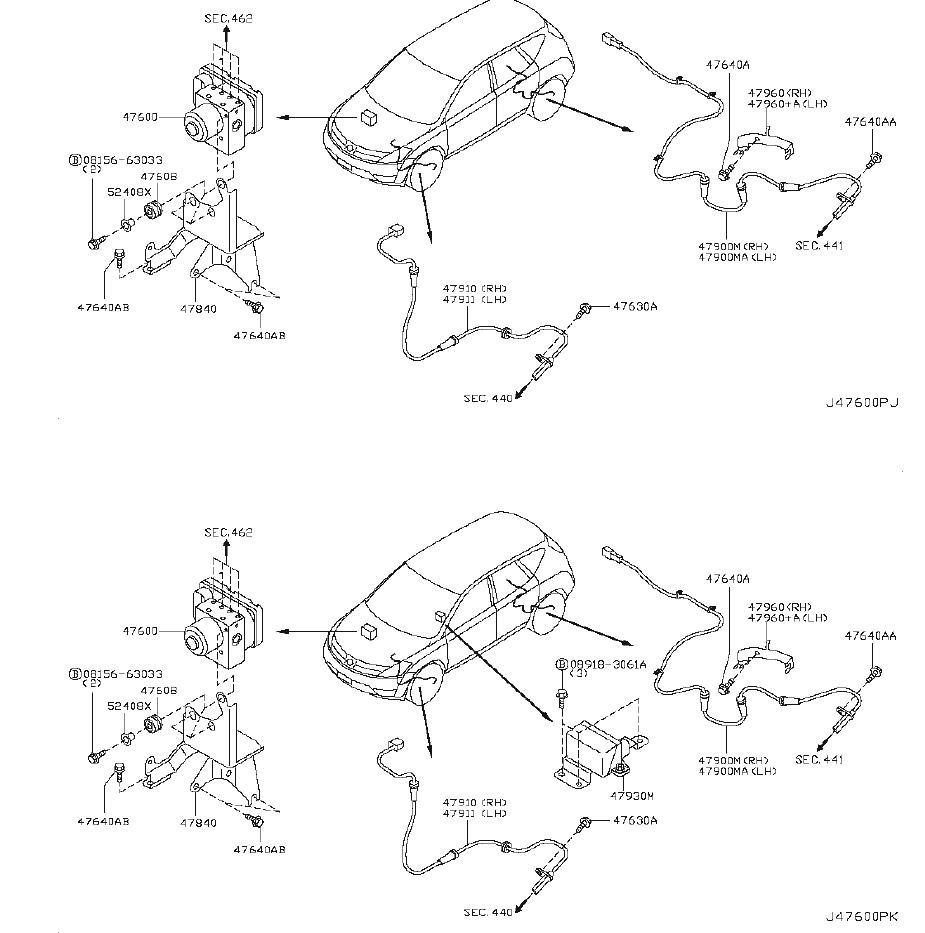 Nissan Murano Actuator Antiskid. VDC