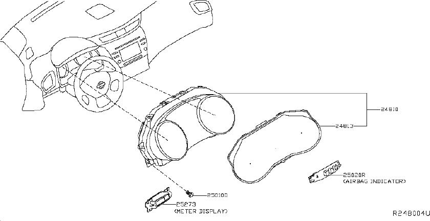 nissan murano passenger air bag disable switch  view